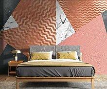 Fototapete Rosa geometrische Streifen Mauer Fresco