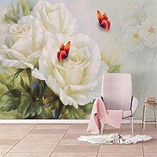 Fototapete Rose Blume Tapete Wandbild Wohnzimmer