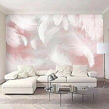 Fototapete Rose und Feder Mauer Fresco Foto