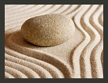 Fototapete Sand und Stein: Zen 270 cm x 350 cm