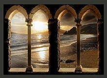 Fototapete Schloss am Strand 210 cm x 300 cm