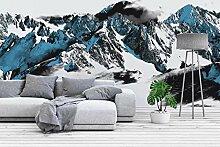 Fototapete Schnee Berg Landschaft Tapete