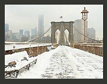 Fototapete Schneebedeckte Brücke in New York 231