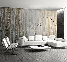 Fototapete Schneewald Landschaft Tapete Wohnzimmer