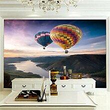 fototapete schwarz weiß 350x256CM Heißluftballon