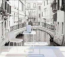 Fototapete.Schwarz-Weiß-Venedig Wandbilder für