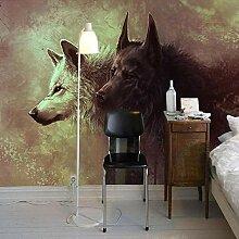 Fototapete Schwarzweiss-Wolf 3D Wandbilder Für