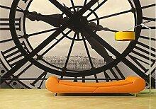 Fototapete Schwarzweißfoto der mechanischen Uhr