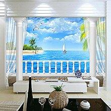 Fototapete Seeinsel 3D Wandbilder Für Fernseher