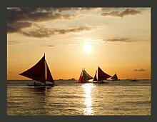 Fototapete Segelboote - Sonnenuntergang 154 cm x