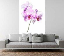 Fototapete selbstklebend Aquarell - Lila Orchidee
