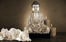 Fototapete selbstklebend Buddha IV - sephia