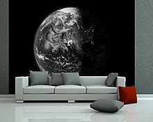 Fototapete selbstklebend Erde - schwarz weiß