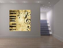 Fototapete selbstklebend Grunge Musik - 100x100 cm
