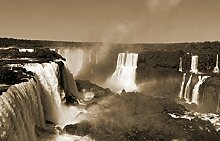 Fototapete selbstklebend Iguazu Wasserfälle mit