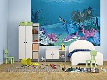 Fototapete selbstklebend Kinderbild - Hai mit