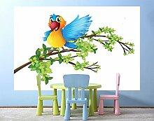 Fototapete selbstklebend Kinderbild - Papagei -