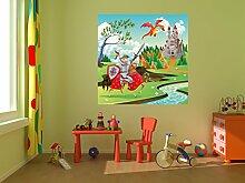 Fototapete selbstklebend Kinderbild - Ritter und