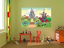 Fototapete selbstklebend Kinderbild - Ritter vor