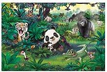 Fototapete selbstklebend Kinderzimmer - Dschungel