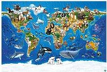 Fototapete selbstklebend Kinderzimmer - Weltkarte
