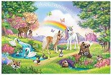 Fototapete selbstklebend Kinderzimmer - Zauberwald