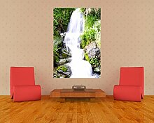 Fototapete selbstklebend Kleiner Wasserfall -