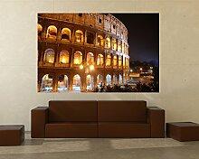 Fototapete selbstklebend Kolosseum bei Nacht -