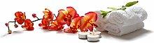 Fototapete selbstklebend Orchidee Spa - 90x60 cm -