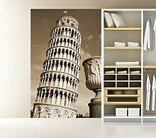 Fototapete selbstklebend Pisa - sephia 130x200 cm