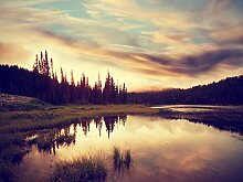 Fototapete selbstklebend Sonnenuntergang in