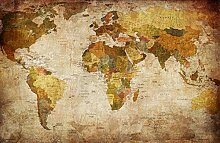 Fototapete selbstklebend | Weltkarte Retro | in