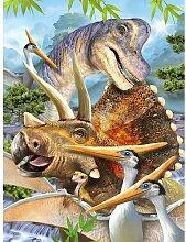 Fototapete Selfies Dinospapier 2.54 m x 184 cm