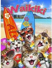 Fototapete Selfies Katzen Papier 2.54 m x 184 cm