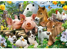 Fototapete Selfies Tiere 2.19 m x 312 cm Happy