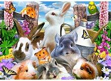 Fototapete Selfies Tiere 2.54 m x 368 cm