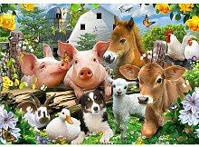 Fototapete Selfies Tiere Papier 2.54 m x 368 cm
