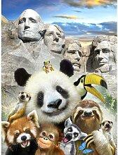 Fototapete Selfies Zootiere Papier 2.54 m x 184 cm