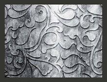 Fototapete Silberner Hintegrund mit Blumen 231 cm