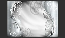 Fototapete Silver Ornament 245 cm x 350 cm