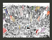 Fototapete Skizze von New York 231 cm x 300 cm