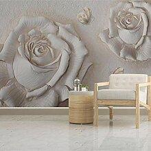 Fototapete Skulptur Rosen 3D Wandbilder Für