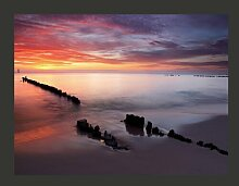 Fototapete Sonnenaufgang an der Ostsee 193 cm x
