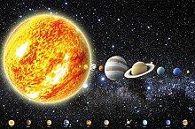 Fototapete Sonnensystem Planeten Wandbild