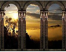 Fototapete Sonnenuntergang 396 x 280 cm Vlies Wand