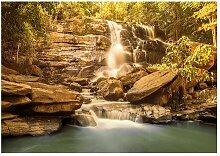 Fototapete Sonniger Wasserfall East Urban Home