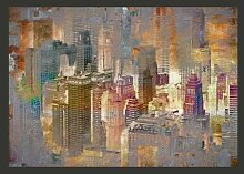 Fototapete Stadt im Nebel 210 cm x 300 cm