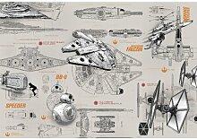 Fototapete Star Wars Blueprints Komar