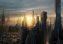 Fototapete Star Wars Coruscant (368 x 254cm -