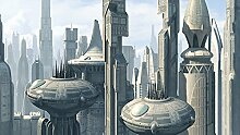 Fototapete Star Wars Coruscant City (254 x 184cm -